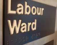 Labour ward sign